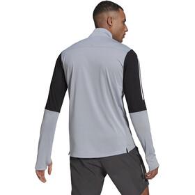 adidas OWN The Run LS 1/2 Zip Shirt Men, halo silver/black/white
